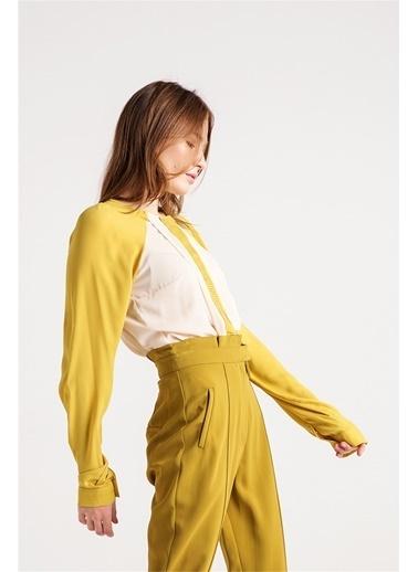 Pati Nervür Detaylı Gömlek-Love'n Fashion Paris